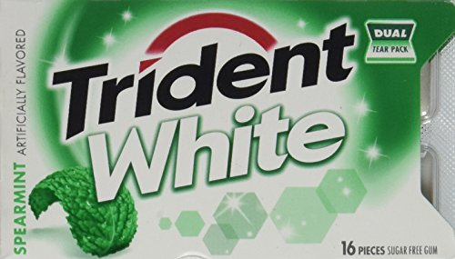 (Trident White Spearmint Dual Pack 12 16-piece packs(192 pieces))
