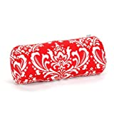 Majestic Home Goods Red and White French Quarter Round Bolster