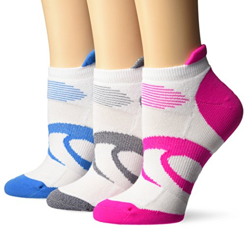 ASICS Women's Intensity Single Tab Socks (3 Pairs), White, Medium