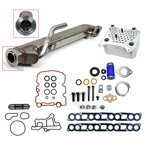 Egr Cooler - NEW EOCK2700 Ford 6.0L E-350 F-250 F-350 Diesel UPGRADED Square EGR Cooler & Oil Cooler Kit