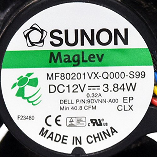 9DVNN Genuine OEM Rear Small Form Factor PC Computer Fan For Dell Optiplex 390 790 990 3010 7010 9010 4-Wire 5-Pin Power Connector Foxconn AVC Sunon Rev:A00 by Aquamoon Trading (Image #5)