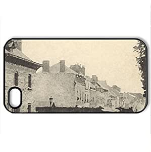 1900s France - Case Cover for iPhone 5 5s (Watercolor style, Black)