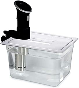 Sous Vide Container Collapsible Hinged with Lid for Circulator Sous Vide Culinary Quick Warm Cooker 11 Liter Capacity (Container, 11 Liter)