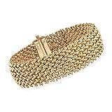 Ross-Simons Italian 14kt Yellow Gold Wide Riso Link Bracelet