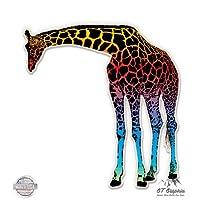 Colorful Giraffe - Vinyl Sticker Waterproof Decal