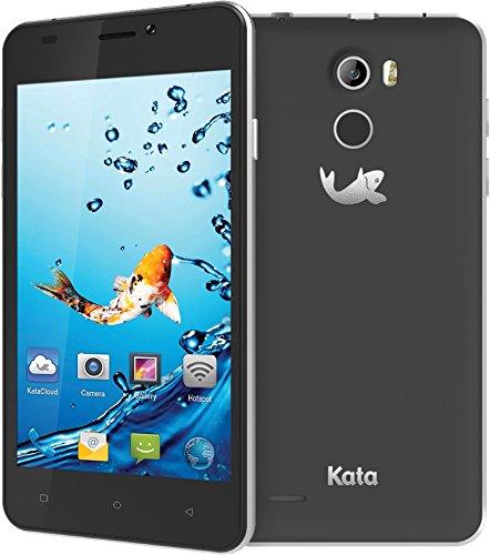 Kata V4 - 4.5-inch IPS Quad Core International Unlocked Smartphone Android 5.1 - Dark Grey - Super Slim HD 1.3 GHz Dual Sim Card GSM 8MP Camera