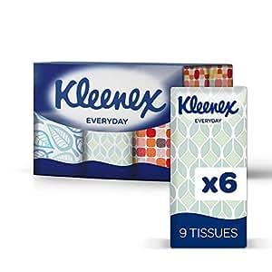 KLEENEX Facial Tissues, To-Go Pocket Pack  (9 tissues per Pocket Pack, 72 Pocket Packs). Designs may vary