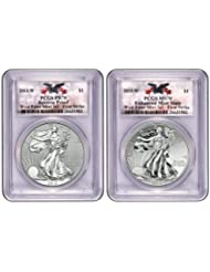 2013 Collection West Point Silver Eagle Set PCGS 70 FIRST STRIKE (CUSTOM WEST POINT LABEL) Dollar PCGS PR-70