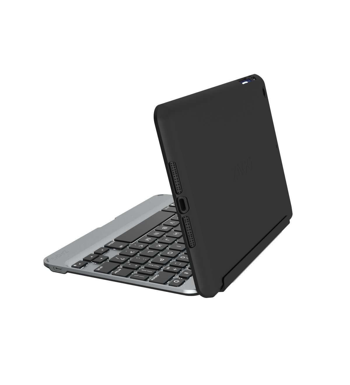 ZAGG Slim Book Ultrathin Case, Hinged with Detachable Bluetooth Keyboard for Apple iPad mini 4 - Black