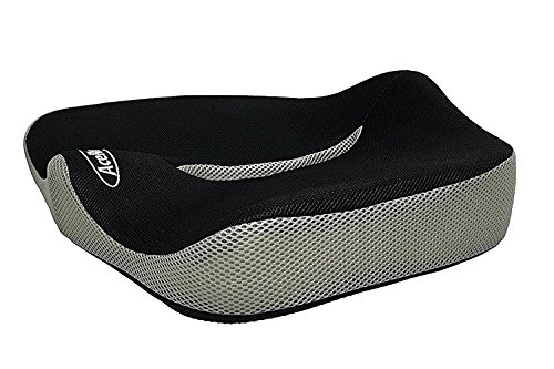 Orthopedic Memory Foam Seat Cushion Provides Relief For Sciatica  Back  Coccyx  Tailbone And Hip Pain   Perfect For Office And Kitchen Chair  Wheelchair  Car  Truck  Plane  Black Gray