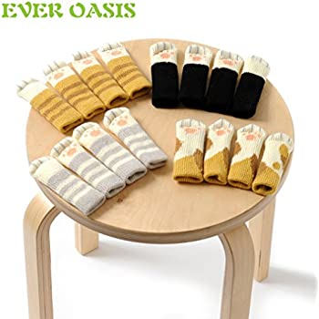 20PCS (5 Sets) Chair Socks Fancy Table Leg Pads With Cute Cat Paws Design