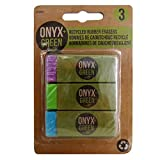 Onyx and Green 3-Pack Erasers with Sleeve, Recycled Rubber (2202)