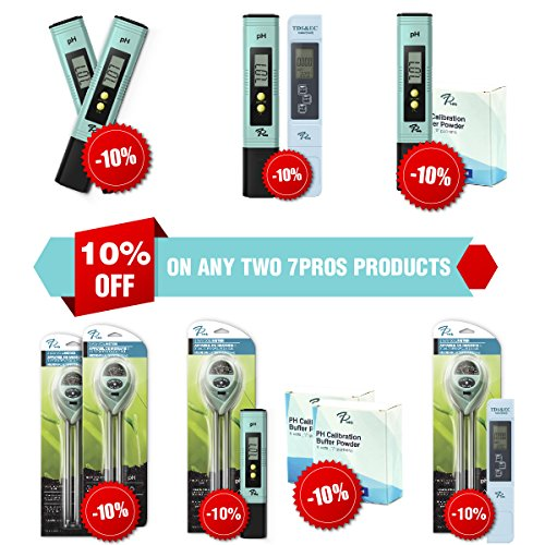 7Pros TDS Meter | Digital Test Pen, 3-in-1 Water Quality Tester (TDS, EC &  Temp) | High Accuracy | Pocket Size Testing Tool For Hydroponics, Ro
