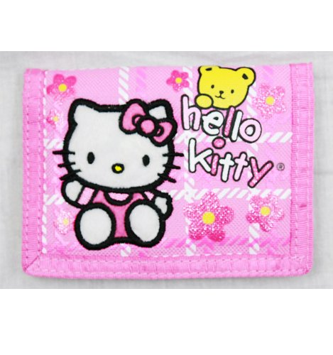 - Trifold Wallet - Hello Kitty - w/ Bear Pink
