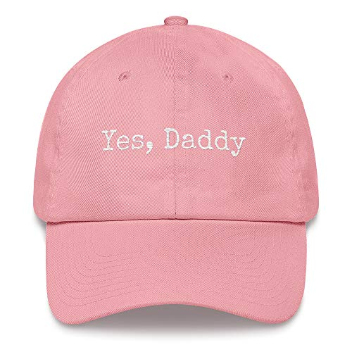 Yes Daddy Hat DDLG Clothing Outfits Submissive Dominant Little BDSM Baby Girl Princess Pastel Goth Baseball Dad Cap Pink]()