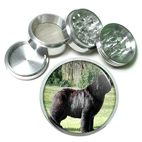 Dog Newfoundland 01 4Pc Aluminum Grinder