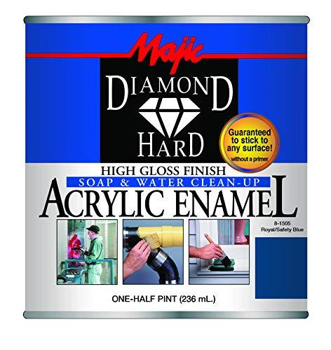Majic Paints 8-1505-4 Diamond Hard Acrylic Enamel High Gloss Paint, Half Pint/8-Ounce, Safety Blue by Majic Paints