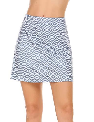 Ekouaer Women's Active Performance Skort Lightweight Skirt for Running Tennis Golf Workout Sports