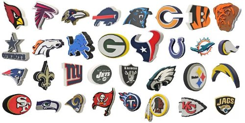All 32 NFL Football Teams Official 3D Foam Logo Wall Signs by Foamheads