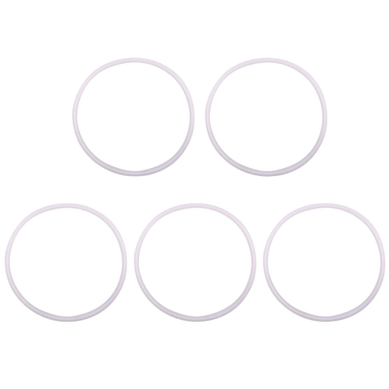 DERNORD Silicone Gasket Tri-clover (Tri-clamp) O-Ring - 8 Inch (Pack of 5)