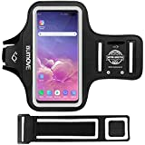 Galaxy S10 Plus/S9 Plus Armband,BUMOVE Gym Running/Workouts Arm Band for Samsung Galaxy S10 Plus/S9 Plus/S8 Plus with Key/Card Holder (Black)