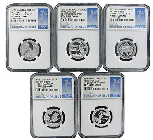 2015 Paradise Mint S National Park Silver Quarter Set Ultra Cameo - 1st Day Issue Quarter PF-69 NGC