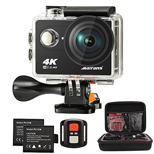 Maifang Sports Camera, Waterproof 4K WIFI Action Camera With