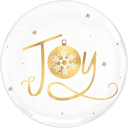 Hot-Stamped 36 Ct Amscan 430774 Joy Coupe Plates