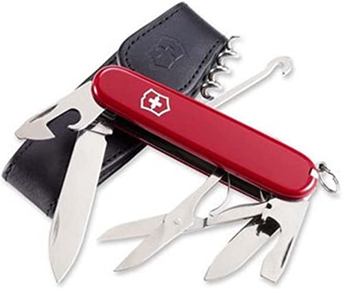 Victorinox Climber Pocket Knife with Pouch – Red