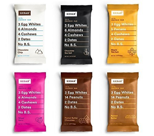 RXBAR Whole Food Protein Bar, Variety Pack w/NEW flavors (12 Bars)