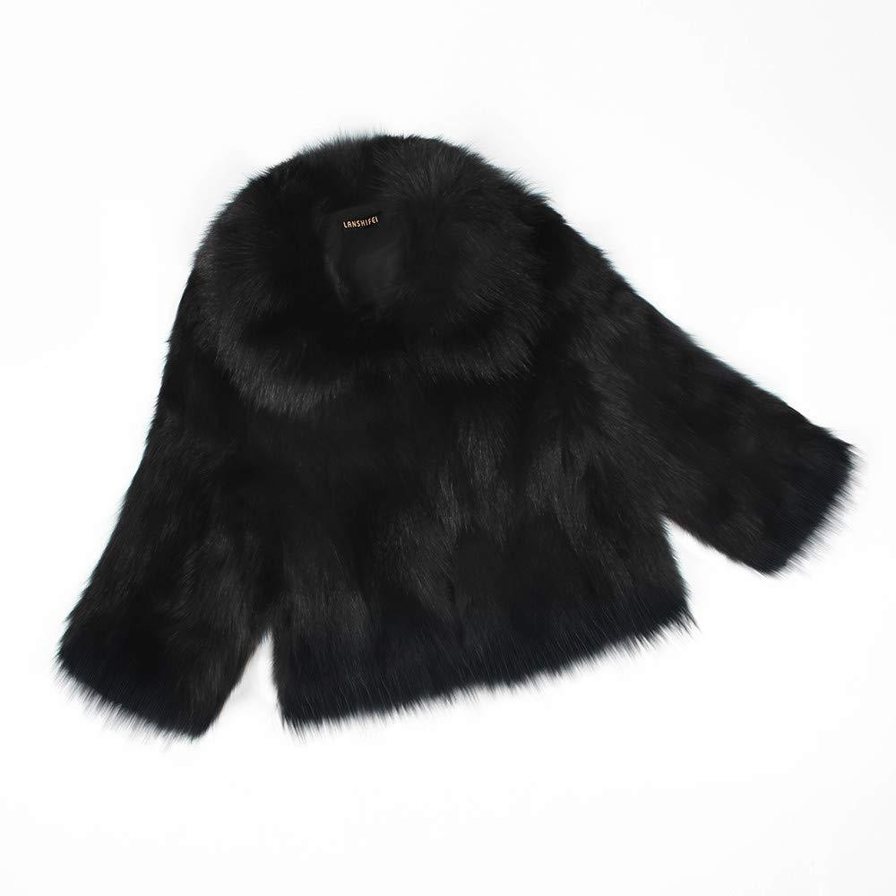 Womens Ladies Warm Faux Fur Coat Jacket Solid Winter Parka ...