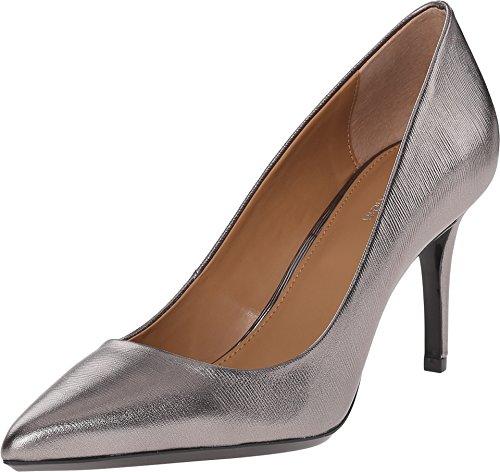 -  Calvin Klein Women's Gayle Pump, Anthracite Metallic Birch Leather - 8.5 B(M) US