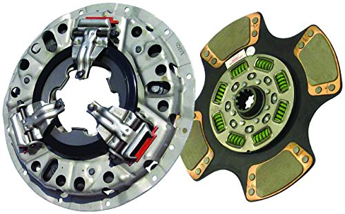 IATCO 107621-1-IAT 350mm x 1-1/2'' Stamped Steel Clutch (Single-Plate, Push-Type, 4-Paddle/ 8-Spring, 2400 Plate Load / 500 Torque)