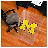 NCAA Michigan Wolverines Logo Foldable Hard Floor ChairMAT