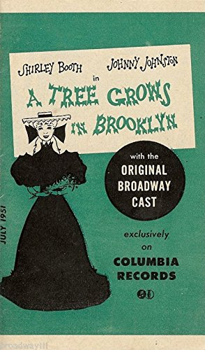 "Shirley Booth ""A TREE GROWS IN BROOKLYN"" Rare 1951 Columbia Records Brochure"