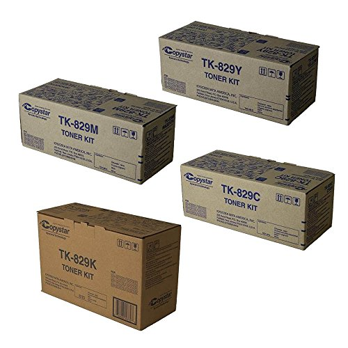 Copystar TK829 Standard Yield Toner Cartridge Set