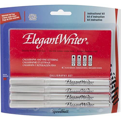 Speedball 2880 Elegant Writer 4 Calligraphy Marker Instructional Set