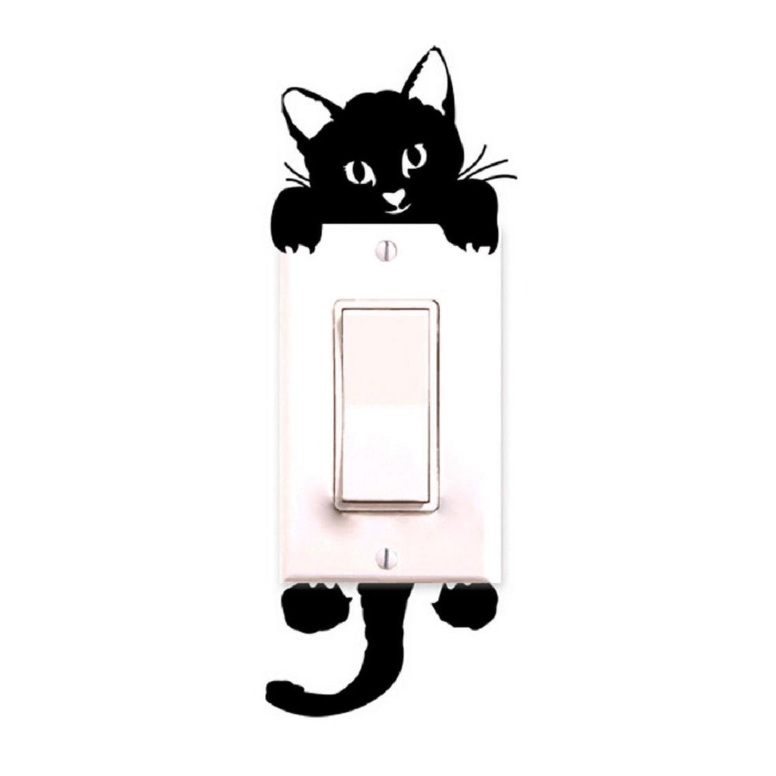 Switch Sticker, Naladoo New Cat Wall Stickers Light Switch Decor Decals Art Mural Baby Nursery Room IU32566436436