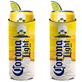 Corona Light Island Sunset Slim Line Can Cooler 2-Pack