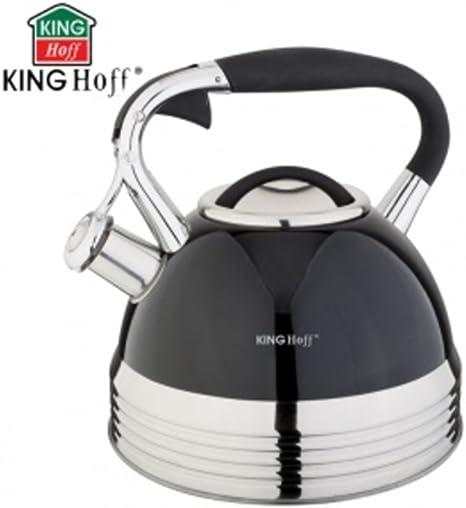 Kinghoff KH-1059 2,7L Wasserkessel EDELSTAHL Flötenkessel Tee Induktion8575