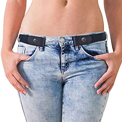 Buckle Free Elastic Leather Nylon Bet for Women Plus Size Invisible Stretchy Girl Dress Jeans Waist Belts for Pants