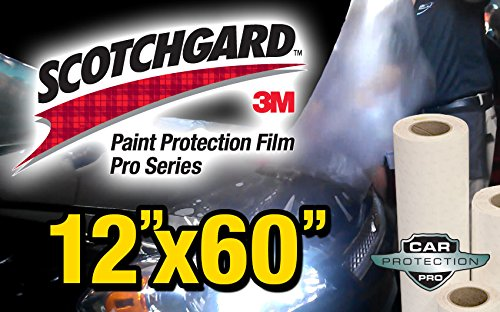 12' x 60' Genuine 3M Scotchgard Pro Series Paint Protection Film Bulk Roll Clear Bra Piece Car Protection Pros