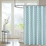 Madison Park MPP70-045 pure Alexa Shower Curtain 72x72 Aqua,72x72