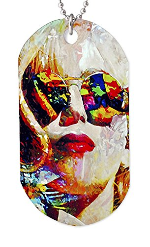 Mark Lewis Art Lady Gaga Necklace Dog tag Pendant, Keychain and Gift Bag – lgs2-ld-dt Signed Collectible