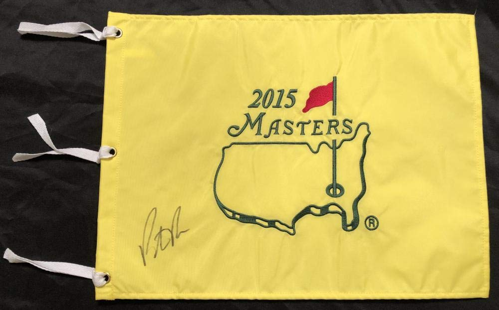 PATRICK REED SIGNED 2015 MASTERS FLAG 2018 PGA CHAMPIONSHIP BELLERIVE COA K1
