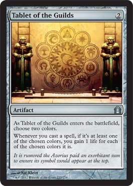 [Magic: the Gathering - Tablet of the Guilds (235) - Return to Ravnica] (Guilds Magic)