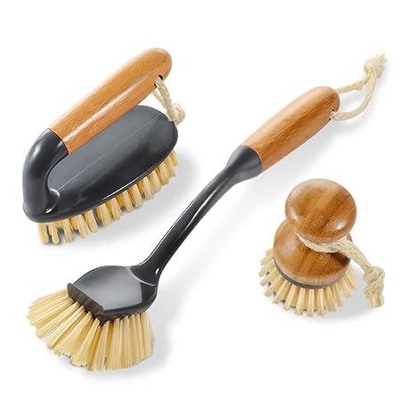 Masthome Cepillos de bambú doméstico de limpieza con cepillo de ...