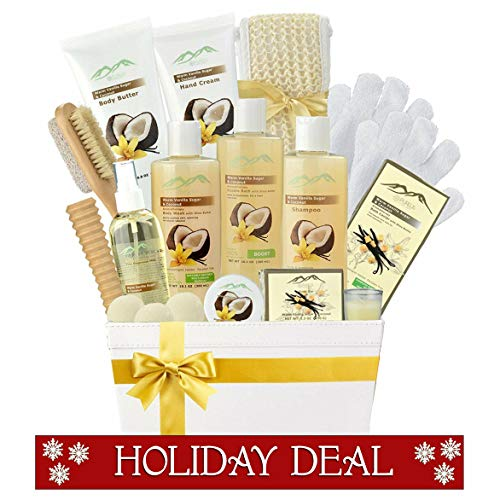 Premium Deluxe Bath & Body Gift Basket. Ultimate Large Spa Basket! #1 Spa Gift Basket for Women Body Lotion Gift Set! ()