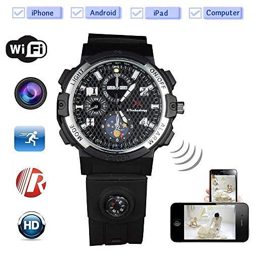 Pinhole In Built (Smart WiFi Watch Remote Monitoring Mini Camera Wireless Watch 720P HD IP P2P Night Version DV Video Audio Recorder (Built in 32 GB))