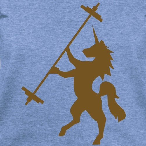 Unicorn Barbell - Women's Wideneck Sweatshirt by Spreadshirt, XXL, heather Blue
